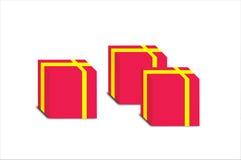 παρόν κόκκινο τρία απεικόνι&si διανυσματική απεικόνιση