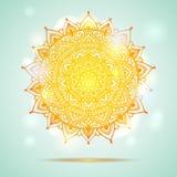 Παρόν σχέδιο καρτών diwali Mandala Στοκ εικόνα με δικαίωμα ελεύθερης χρήσης