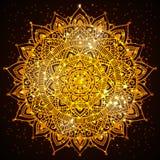 Παρόν σχέδιο καρτών diwali Mandala Στοκ φωτογραφίες με δικαίωμα ελεύθερης χρήσης