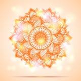 Παρόν σχέδιο καρτών diwali Mandala Στοκ φωτογραφία με δικαίωμα ελεύθερης χρήσης