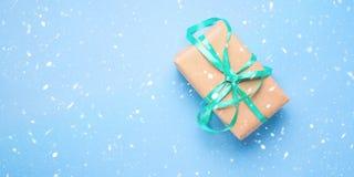 Παρόν υπόβαθρο εμβλημάτων δώρων Χριστουγέννων Στοκ Φωτογραφίες