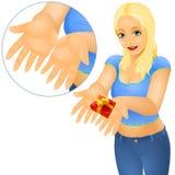 Παρόν δώρο κοριτσιών απεικόνιση αποθεμάτων