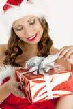 παρόν santa Claus Χριστουγέννων Στοκ φωτογραφίες με δικαίωμα ελεύθερης χρήσης