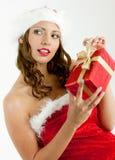 παρόν santa Claus Χριστουγέννων Στοκ εικόνες με δικαίωμα ελεύθερης χρήσης