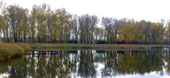 Παρόχθια λίμνη το φθινόπωρο στοκ εικόνα με δικαίωμα ελεύθερης χρήσης