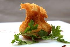 Πασπαλισμένα με ψίχουλα τρόφιμα Στοκ Εικόνες