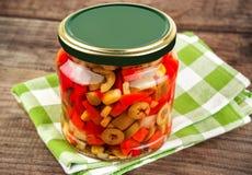παστωμένα βάζο λαχανικά Στοκ Εικόνες