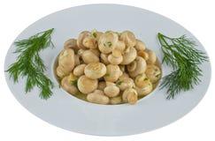 Παστωμένα μανιτάρια στο άσπρο πιάτο Στοκ Εικόνες