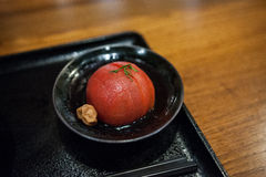 Παστωμένες ντομάτες δαμάσκηνων Στοκ Φωτογραφία
