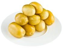 Παστωμένες ντομάτες στο άσπρο πιάτο Στοκ φωτογραφία με δικαίωμα ελεύθερης χρήσης