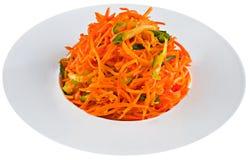 Παστωμένο καρότο στο άσπρο πιάτο Στοκ Εικόνα
