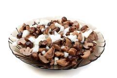 παστωμένο μανιτάρια πιάτο Στοκ φωτογραφία με δικαίωμα ελεύθερης χρήσης