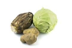 Πατάτα λάχανων ντοματών Στοκ Εικόνες