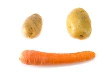 Πατάτα και καρότο προσώπου χαμόγελου Στοκ Φωτογραφία