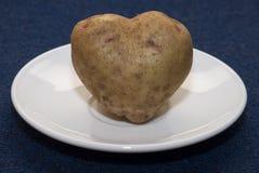 πατάτα καρδιών Στοκ φωτογραφίες με δικαίωμα ελεύθερης χρήσης