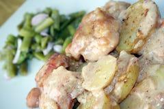 πατάτα κοτόπουλου Στοκ Φωτογραφίες