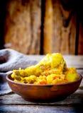 πατάτα κοτόπουλου που μ&a Στοκ Εικόνα