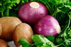 πατάτα μαϊντανού κρεμμυδιών Στοκ φωτογραφία με δικαίωμα ελεύθερης χρήσης