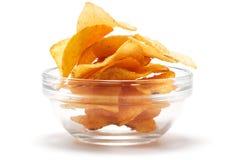 πατάτα πιάτων τσιπ Στοκ φωτογραφία με δικαίωμα ελεύθερης χρήσης