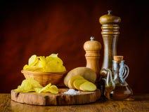πατάτα συστατικών τσιπ Στοκ φωτογραφίες με δικαίωμα ελεύθερης χρήσης