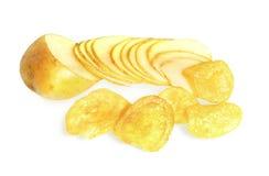 πατάτα σωρών τσιπ Στοκ Φωτογραφίες