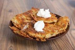 πατάτα τηγανιτών κρέμας ξινή Στοκ εικόνες με δικαίωμα ελεύθερης χρήσης