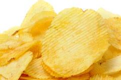 πατάτα τσιπ που αναστατών&epsilo Στοκ φωτογραφία με δικαίωμα ελεύθερης χρήσης