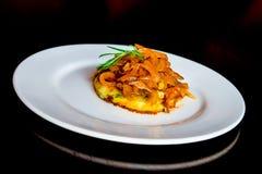 Πατάτες για το μαγειρευμένο χοιρινό κρέας Στοκ Εικόνες