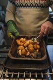 Πατάτες και παστινάκες ψητού Στοκ Εικόνα