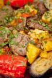 Πατάτες με το κρέας και τις ντομάτες Στοκ Εικόνα