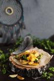 Πατάτες με το μπρόκολο Στοκ Εικόνες