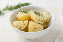 Πατάτες μωρών με τον άνηθο στοκ φωτογραφία με δικαίωμα ελεύθερης χρήσης