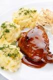 πατάτες πιάτων κρέατος Στοκ εικόνες με δικαίωμα ελεύθερης χρήσης