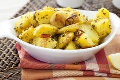 πατάτες πιάτων πικάντικες Στοκ φωτογραφία με δικαίωμα ελεύθερης χρήσης