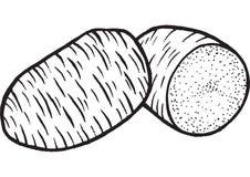 Πατάτες που χρωματίζουν τη συρμένη χέρι απεικόνιση σελίδων Στοκ φωτογραφία με δικαίωμα ελεύθερης χρήσης