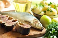 πατάτες ρεγγών Στοκ φωτογραφία με δικαίωμα ελεύθερης χρήσης
