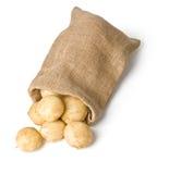 Πατάτες στο σάκο Στοκ εικόνα με δικαίωμα ελεύθερης χρήσης