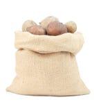 Πατάτες burlap Στοκ φωτογραφία με δικαίωμα ελεύθερης χρήσης