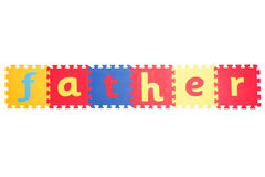 Πατέρας λέξης Στοκ εικόνα με δικαίωμα ελεύθερης χρήσης