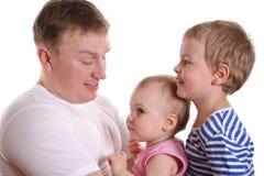 πατέρας δύο παιδιών Στοκ φωτογραφίες με δικαίωμα ελεύθερης χρήσης