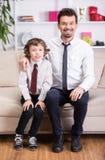 Πατέρας και γιος Στοκ εικόνα με δικαίωμα ελεύθερης χρήσης