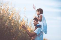 Πατέρας και κόρη που έχουν τη διασκέδαση που παίζει από κοινού Στοκ φωτογραφίες με δικαίωμα ελεύθερης χρήσης