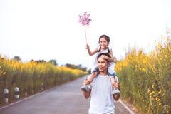 Πατέρας και κόρη που έχουν τη διασκέδαση και που παίζουν από κοινού Στοκ εικόνα με δικαίωμα ελεύθερης χρήσης