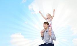 Πατέρας και κόρη Στοκ Εικόνες