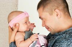 Πατέρας και μικρή κόρη Στοκ Εικόνα