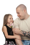 πατέρας κορών ευτυχής στοκ εικόνα με δικαίωμα ελεύθερης χρήσης