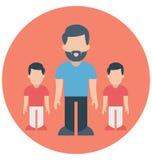 Πατέρας, μικρά παιδιά που μπορούν να εκδοθούν εύκολα σε οποιοδήποτε μέγεθος ή να τροποποιηθούν ελεύθερη απεικόνιση δικαιώματος