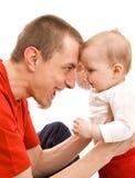 πατέρας μωρών Στοκ Φωτογραφία