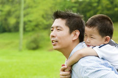 Πατέρας & παιδί Στοκ Εικόνες