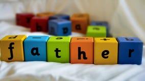 Πατέρας φραγμών παιδιών Στοκ Φωτογραφίες
